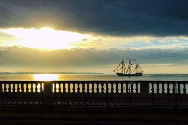 Gasparilla Ship Anchored