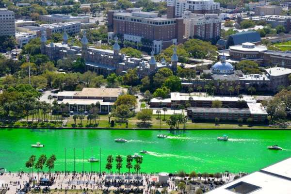Hillsborough River St. Patrick's Day Green