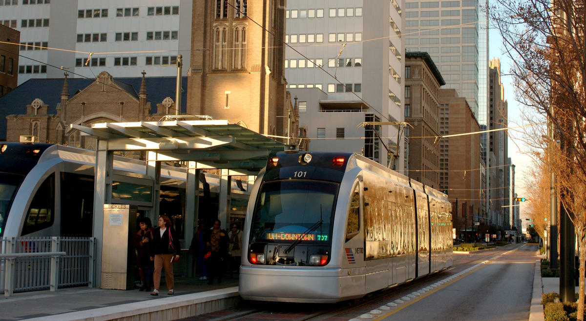Houstons Metro Rail System Houston Transportation
