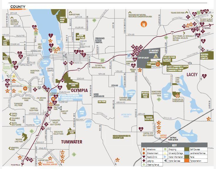 Thurston County Map Explore Olympia Lacey Tumwater