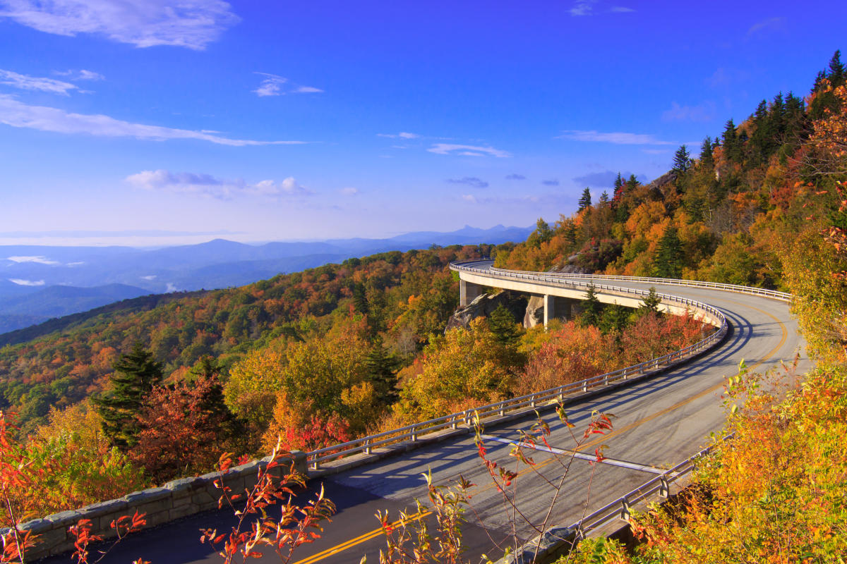 Fall Scenic Drives Early Color Asheville N C