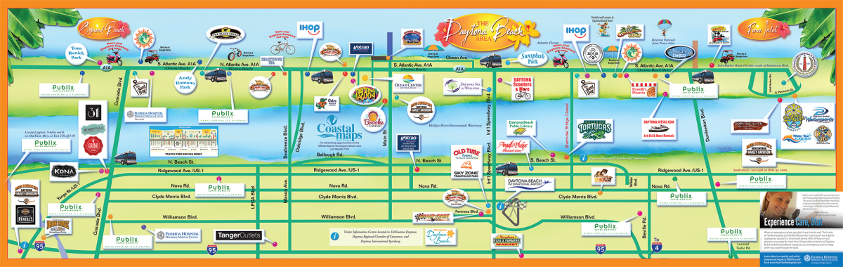 Map Of Ormond Beach Hotels