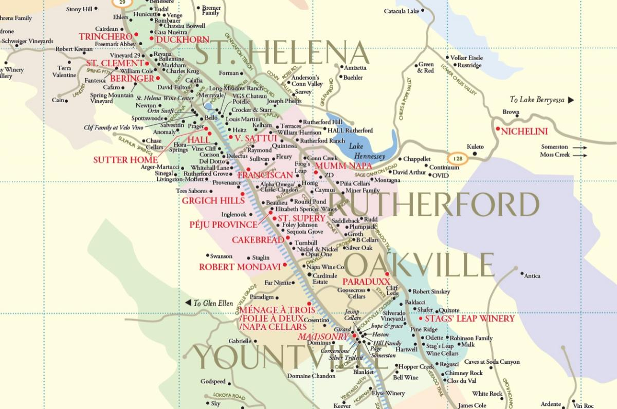 . napa valley winery map  plan your visit to our wineries