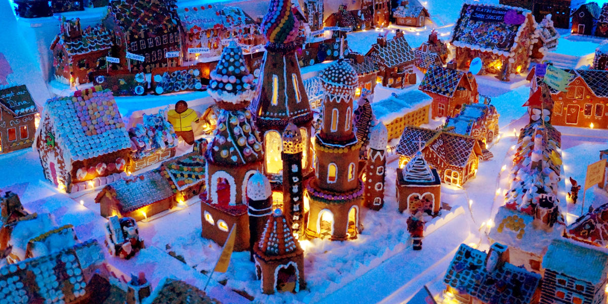 the world s largest gingerbread city visit norway. Black Bedroom Furniture Sets. Home Design Ideas
