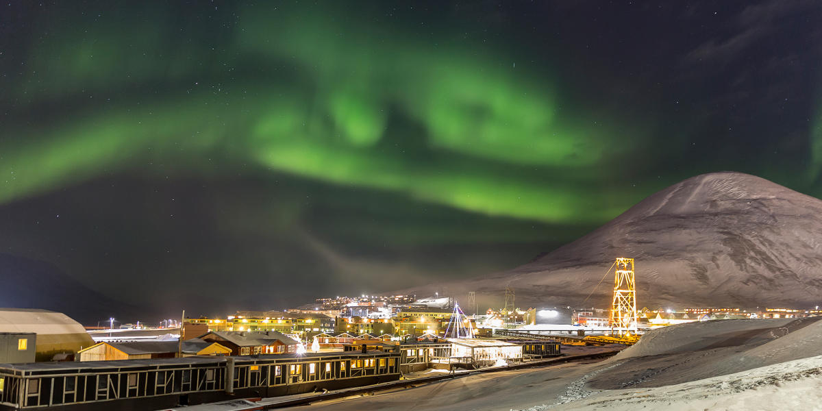 Image result for northern lights svalbard norway