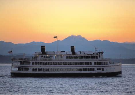 Royal Argosy Ship at Sunset.