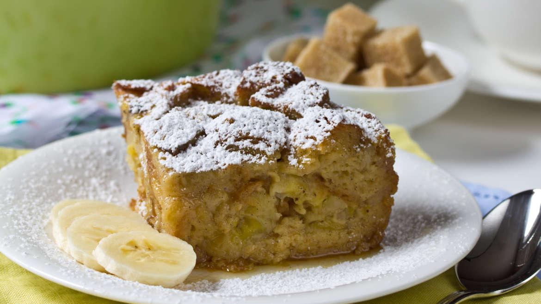 Banana Bread Pudding made with Croissants thumbnail