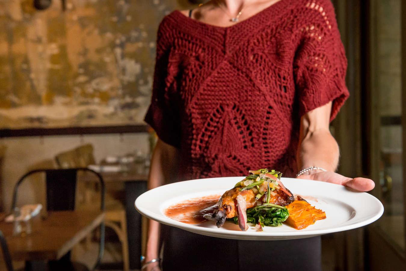Plate of Food - Rhubarb