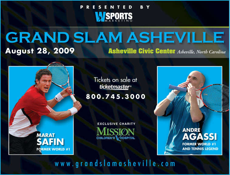 Grand Slam Asheville Gets New Star: Andre Agassi