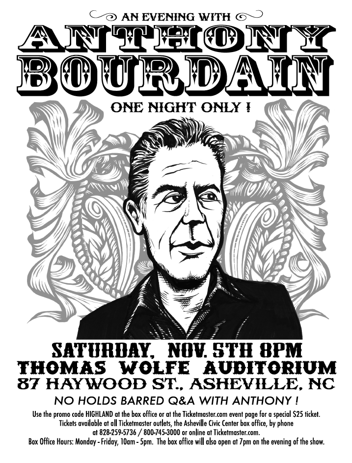 Discounted Promo Code for Anthony Bourdain Event
