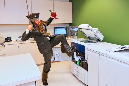 "Visit Tampa Bay hooks ""Greybeard the Pirate"""