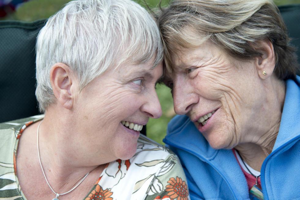 lesbian older couple