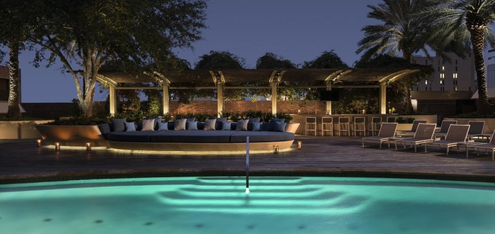 A pool at the Four Seasons