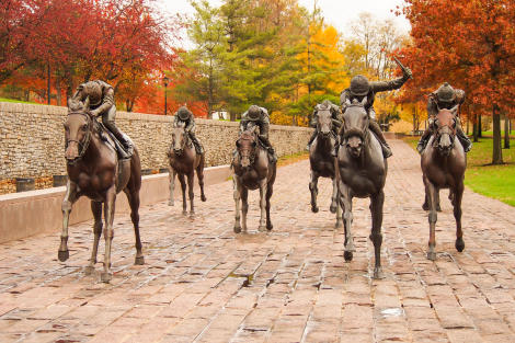 Thoroughbred Park in Fall