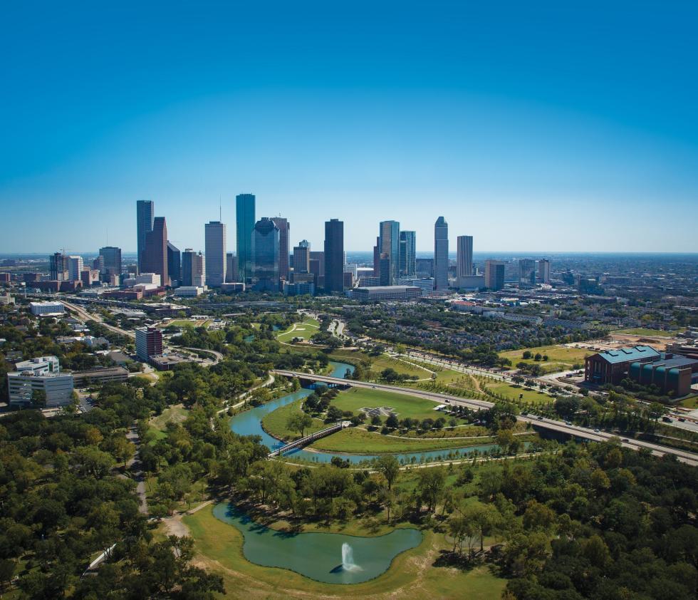Houston Skyline Buffalo Bayou More Sky