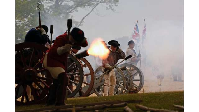 Old Fort Niagara during a French & Indian War encampment 74