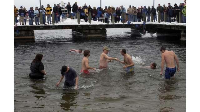 Group Swimming - Ocean in Winter 108