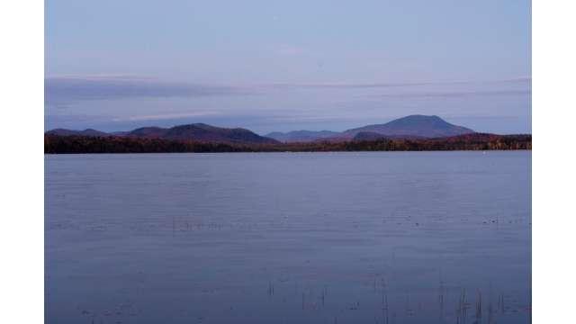 Blue mountain on Blue Mountain Lake