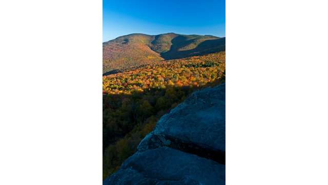 Hiking trail to Giant Ledge offering views of Wittenberg and Slide Mountains...