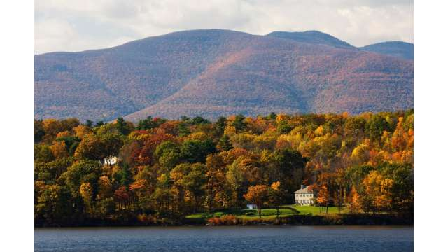 View of Catskill Mountains from Hudson River