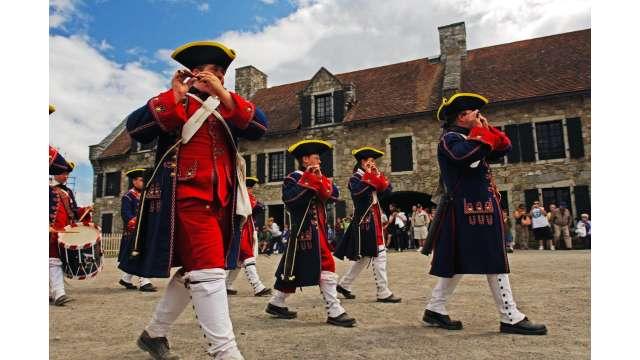 French & Indian War reenactment at Fort Ticonderoga 1667