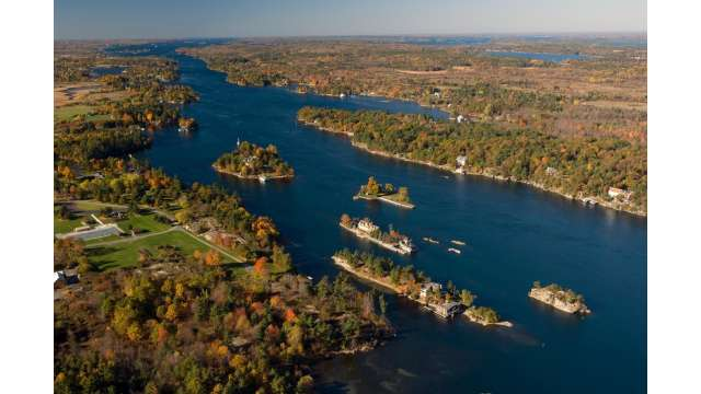 View of the St. Lawrence Seaway in the Thousand Islands