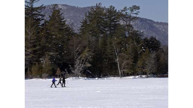 X-Country Skiing on Raquette Lake in the Adirondacks