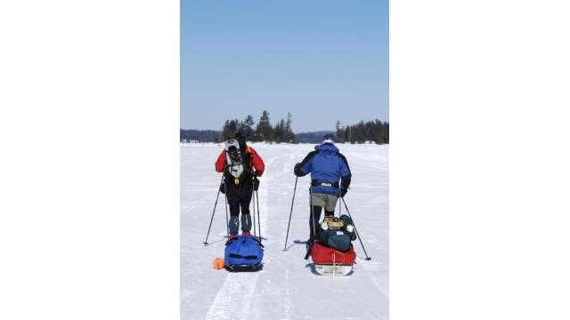 X-skiing/winter camping-Raquette Lake