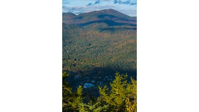 View of Keene from Trail up Rooster Comb