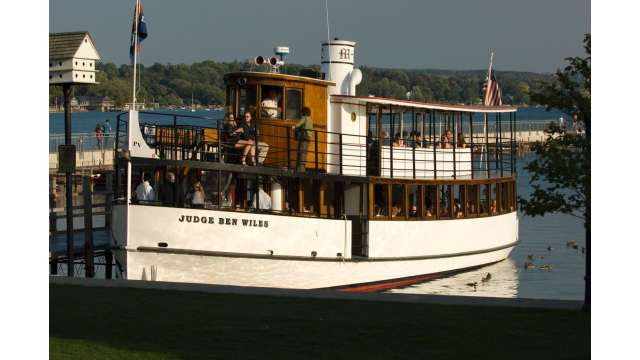 Judge Ben Wiles Cruise Boat on Skaneateles Lake