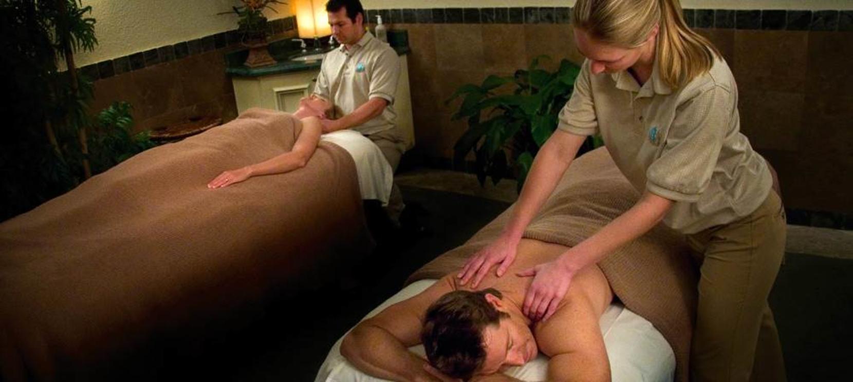 Couples Massage at the spa at Saddlebrook Resort