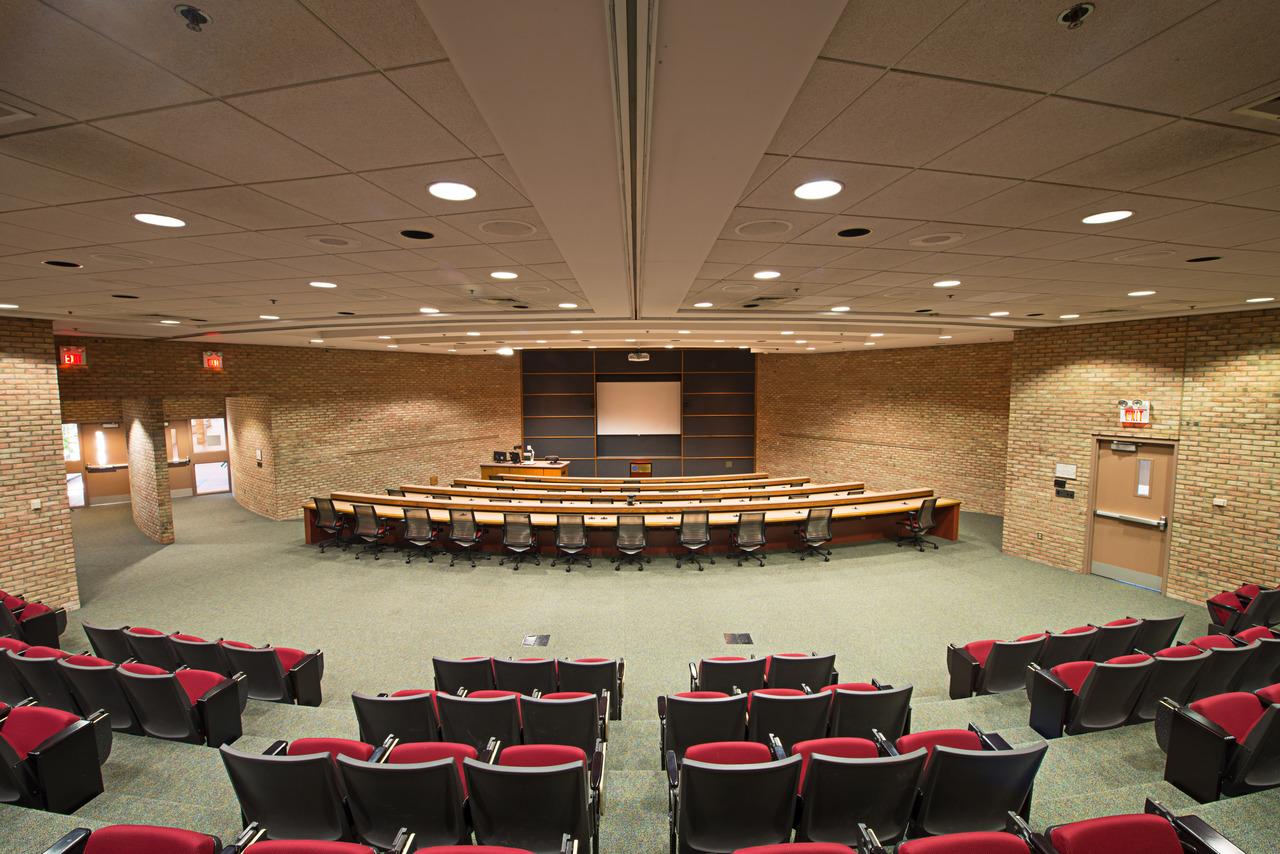 Inside the Grand Valley State University Eberhard Center.