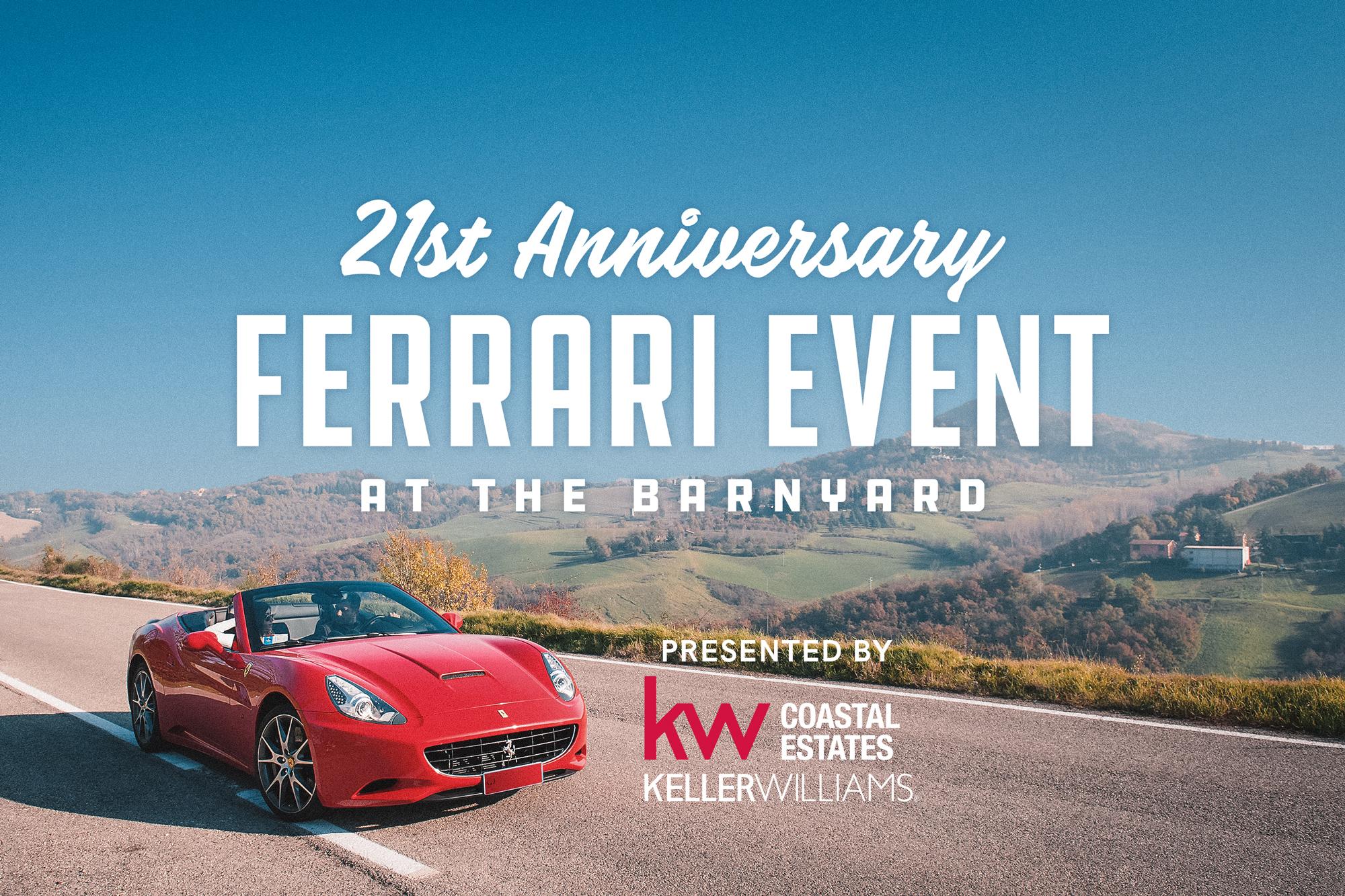 21st Annual Ferrari At The Barnyard @ The Barnyard Shopping Village Carmel