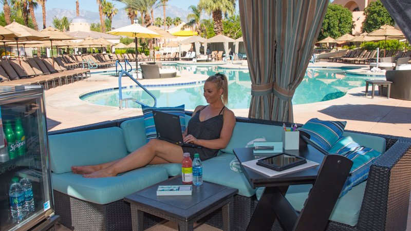 Save 32% on a Workation Cabana Package