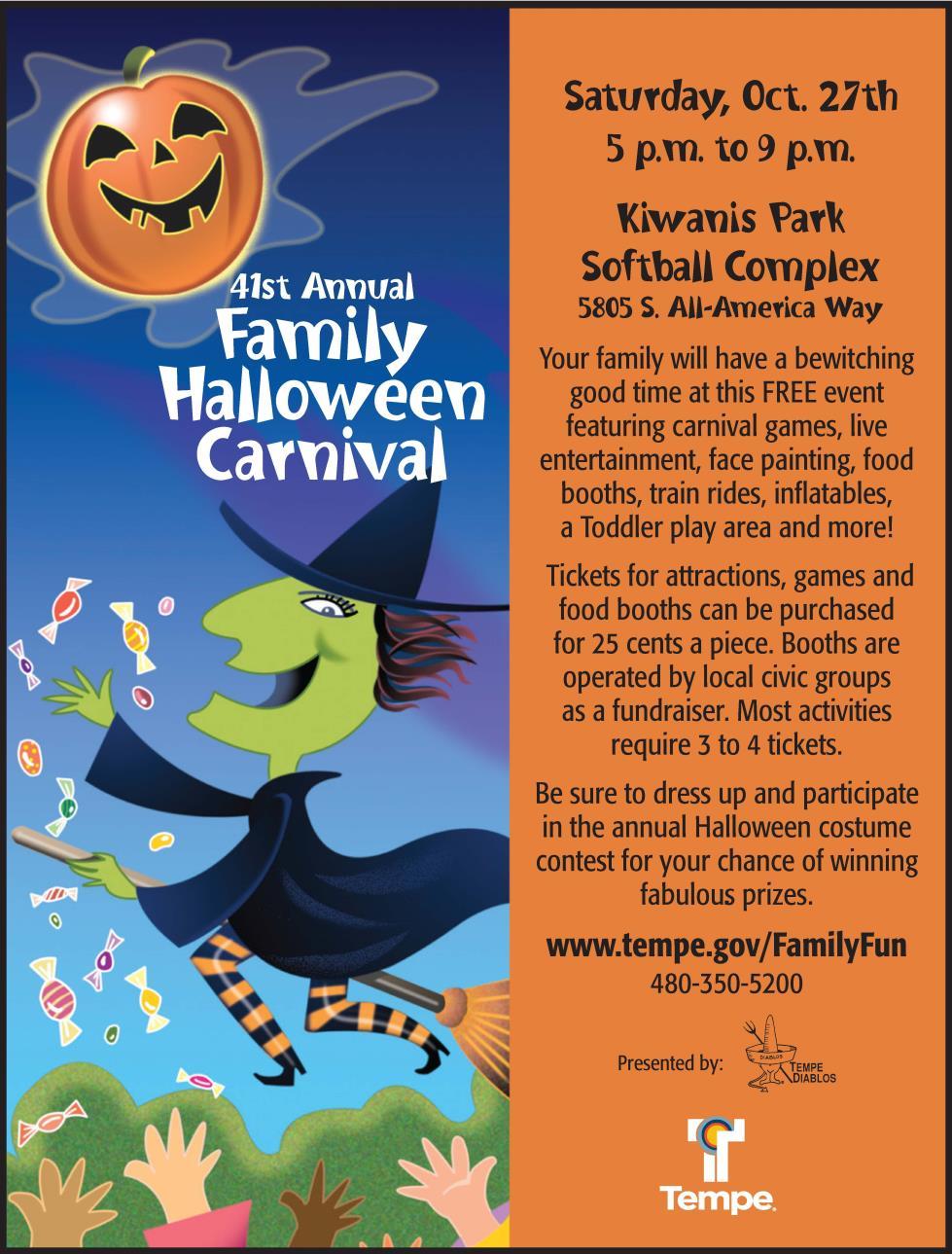 family halloween carnival at kiwanis park