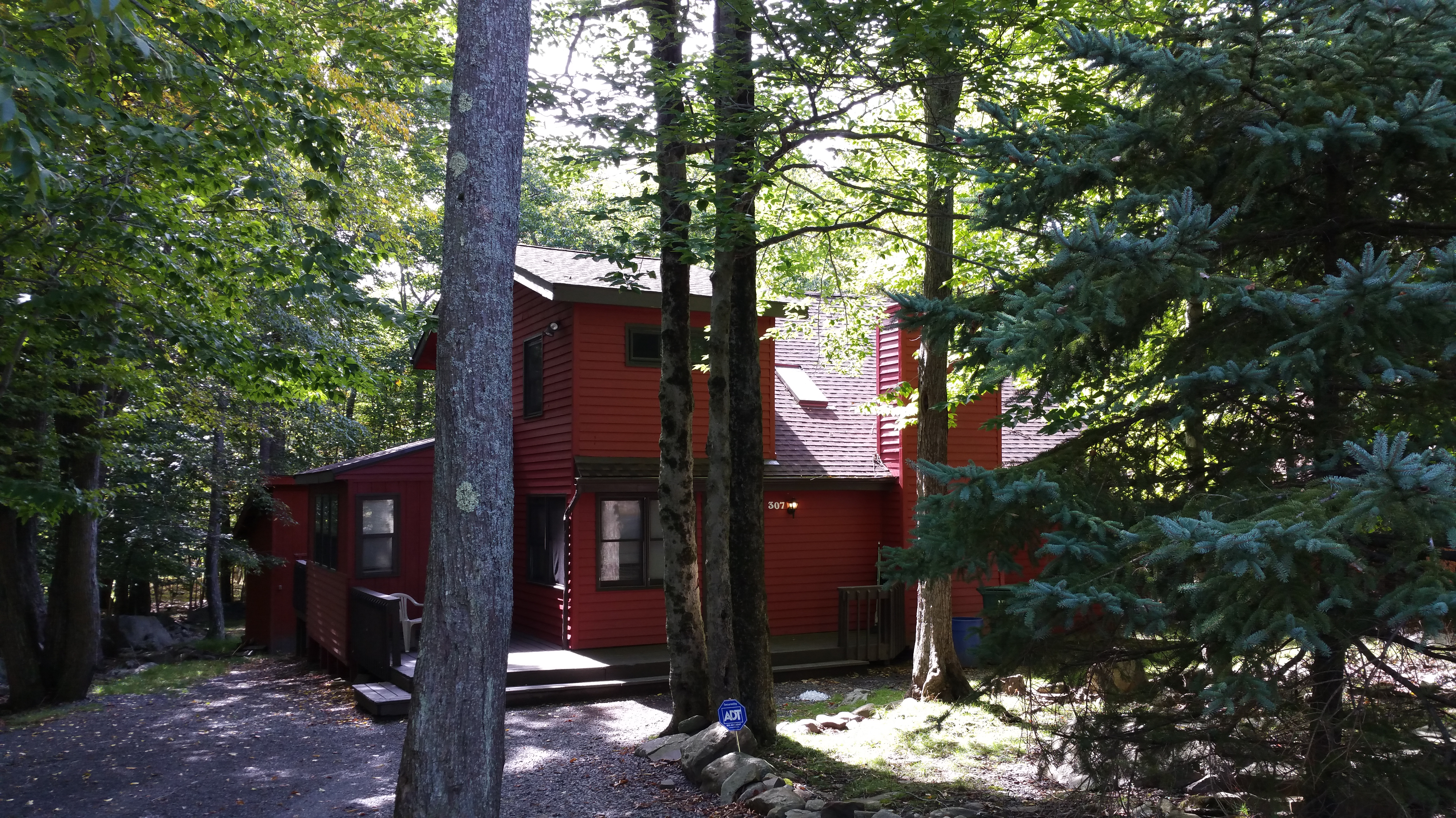 in rentals chalet community of pin story mountain private the large towamensing poconos trails located cabin cabins