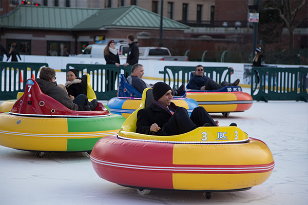 Bumper Cars On Ice At The Alex And Ani City Center