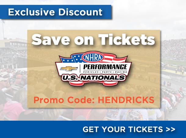 2018 NHRA U.S. Nationals Ticket Discount | Promo Code HENDRICKS