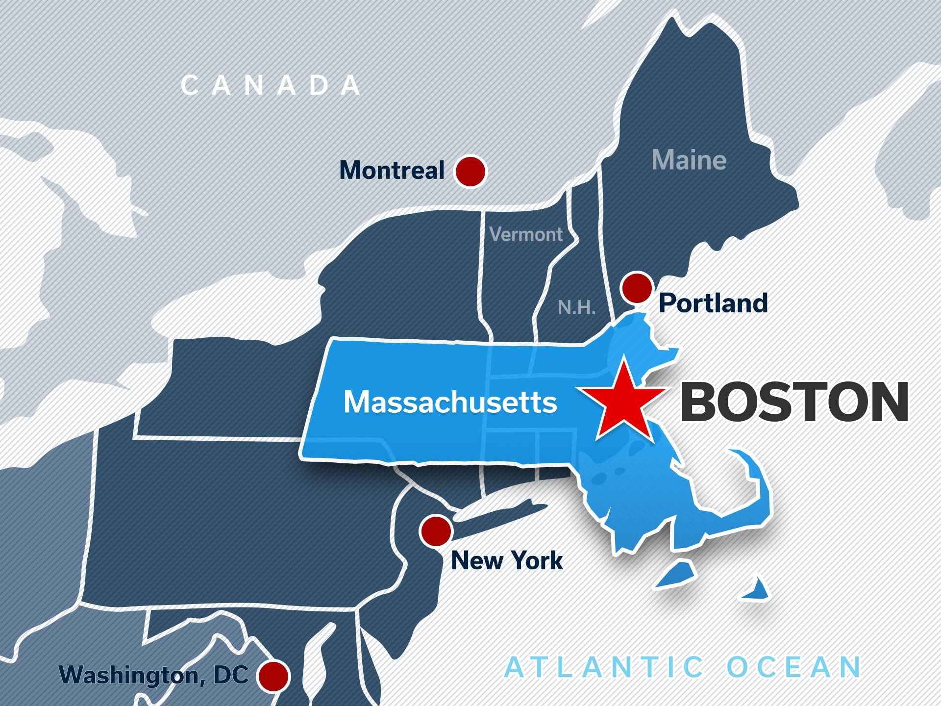 Boston Guide Hotels Restaurants Meetings Things To Do In Boston - Boston-on-a-us-map