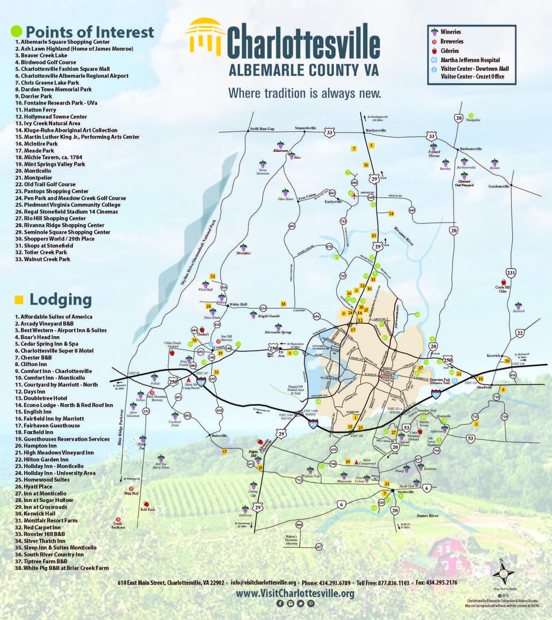 Charlottesville Area Maps | Visit Charlottesville