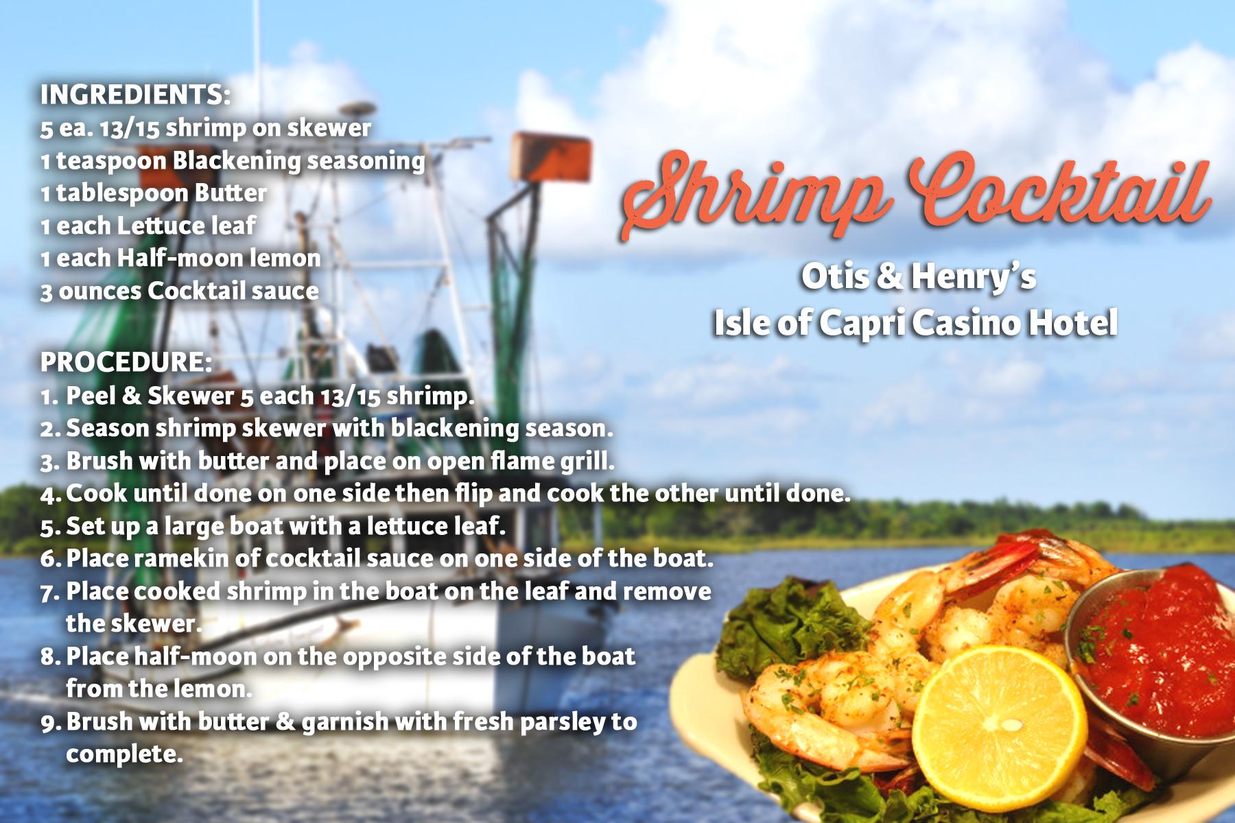 Cajun food recipes from louisiana authentic gumbo jambalaya shrimp cocktail recipe card forumfinder Choice Image