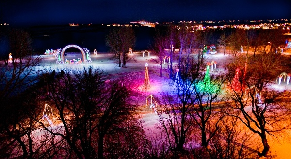 Waterfall of Lights in Brandon, Manitoba