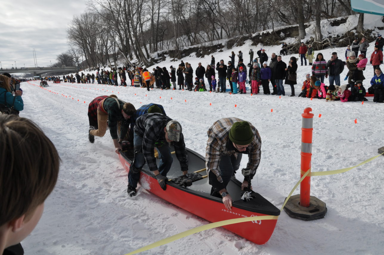 Inclusion Winnipeg's Wild Winter Canoe Race