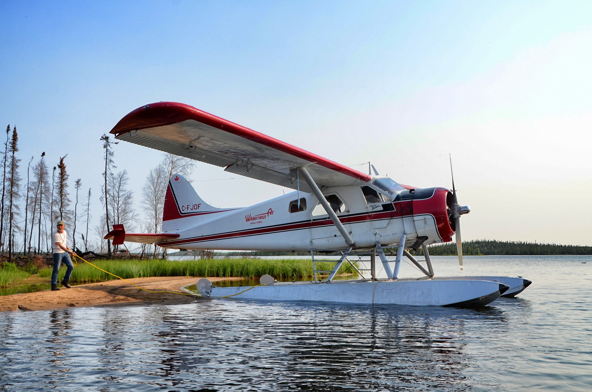 The iconic de Havilland Beaver at Gangler's North Seal River Lodge, Egenolf Lake
