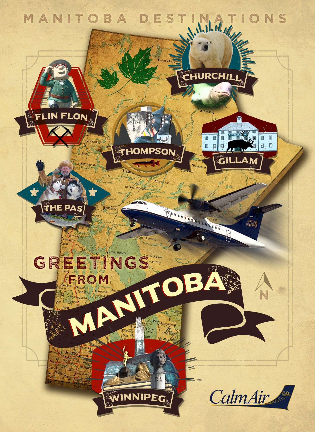 Greetings from Manitoba via Calm Air, your gateway to the North.