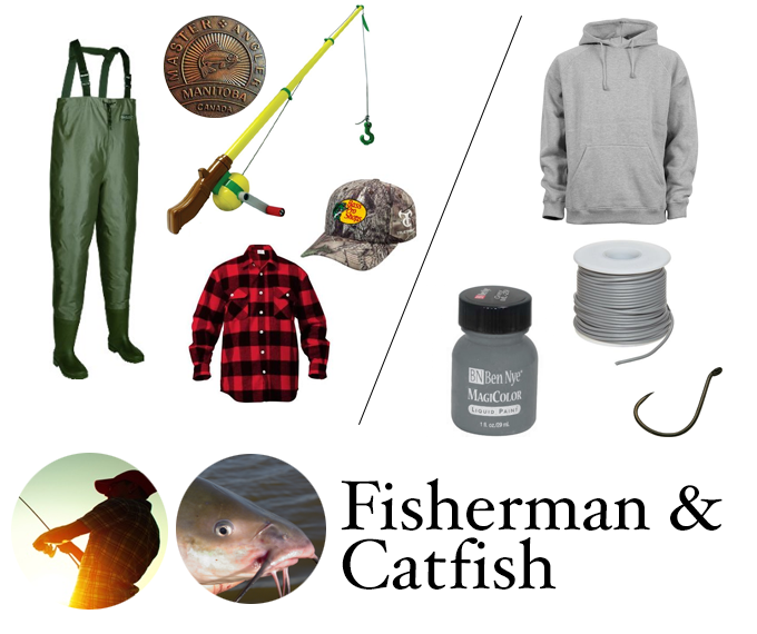 Fisherman and Catfish Halloween Costume