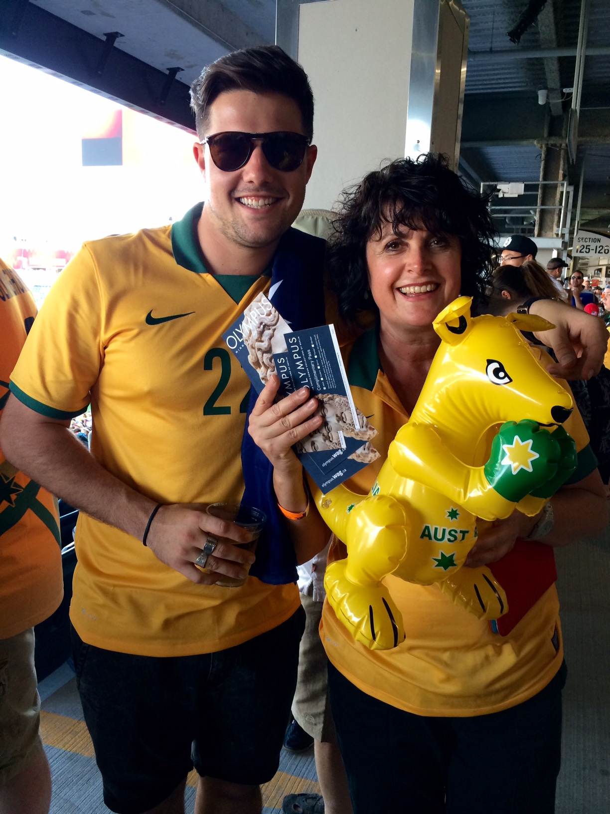 Aussie fans at FIFA Women's World Cup.