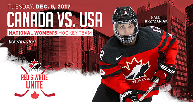 Canada vs USA Women's Hockey