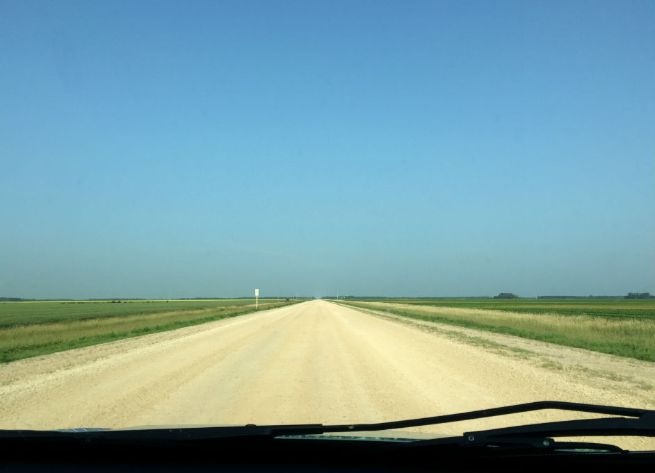 Highway 227 is a gravel road shortcut from Winnipeg to Minnedosa