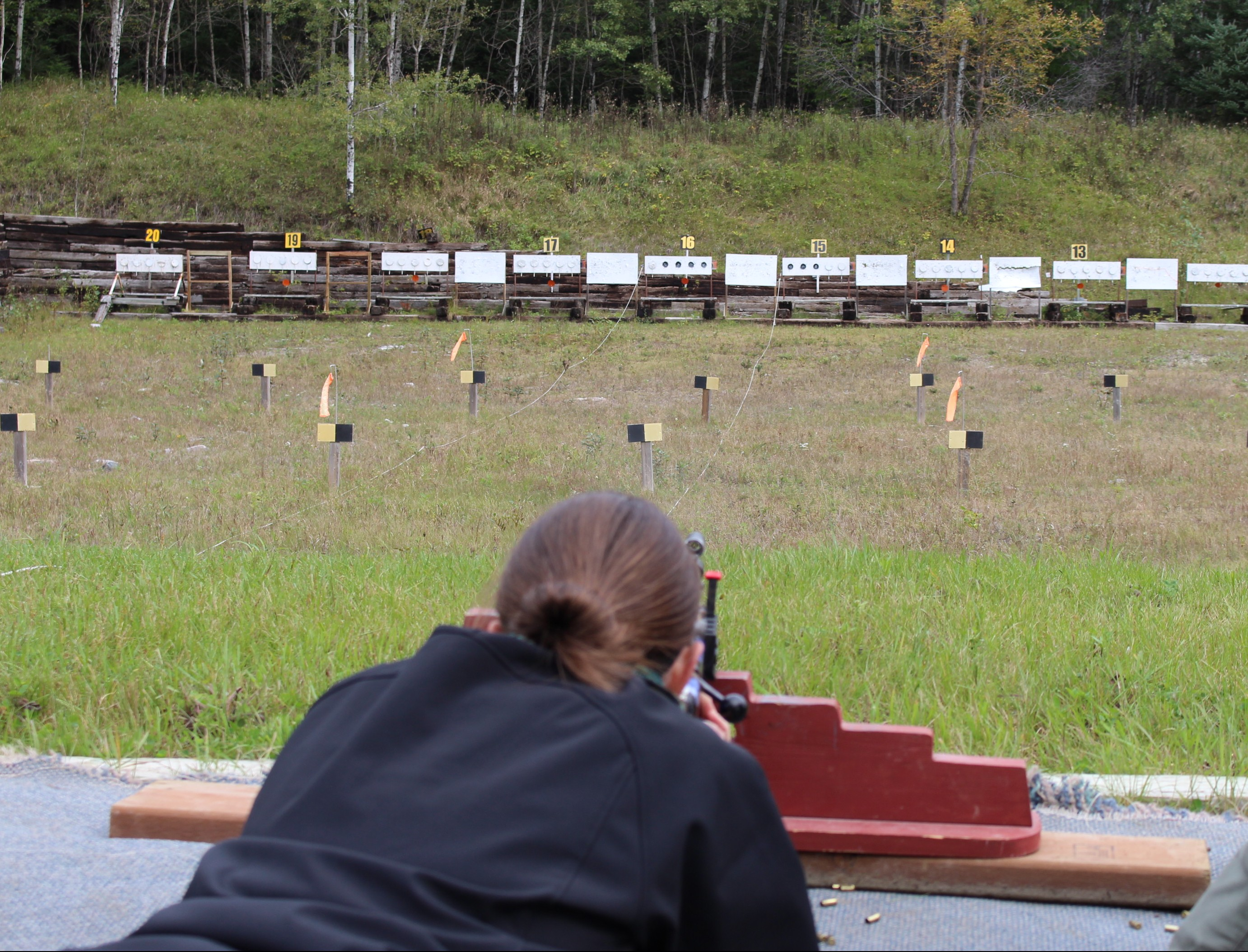 Biathlon shoot at Falcon Trails Resort